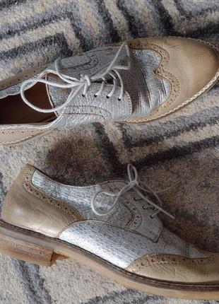 Туфли оксфорды ботинки кожа 41 размер, 27 см