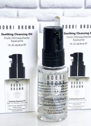 Успокаивающее масло для снятия макияжа bobbi brown to go soothing