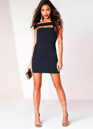 Великолепное платье бюстье asos missguided bardot / для новогодней вечеринки