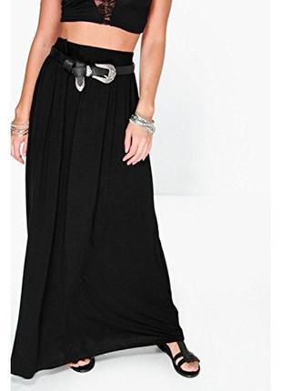 Юбка макси черная юбка в пол boohoo