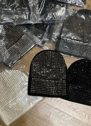 Шикарные шапочки в камнях, люкс качество, стамбул, размер универсальный с-л.