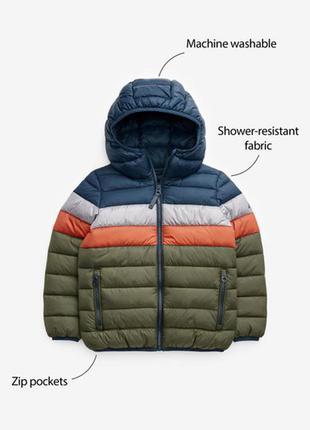 Водоотталкивающая демисезонная дутая куртка next(3-16 лет)