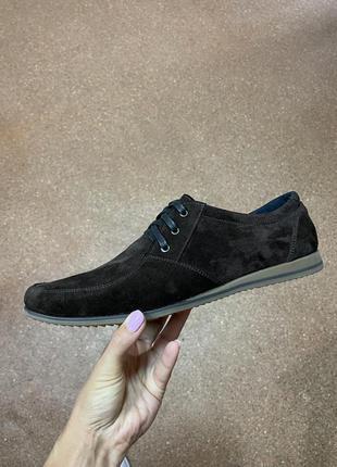 Мужские туфли натуральная замша р.40-45