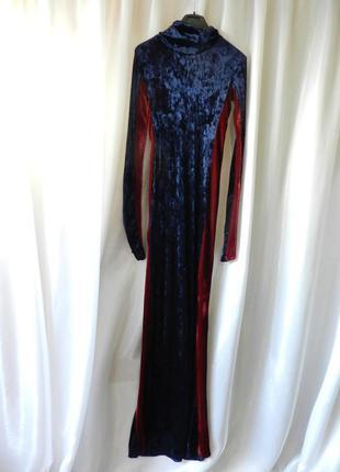 Шикарное платье в пол   бархат велюр стрейч
