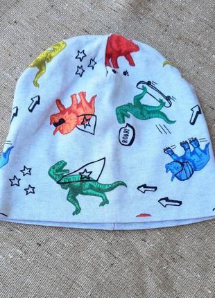 Двойные трикотажные шапки