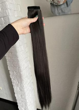 Хвост на заколке (с лентой из волос)