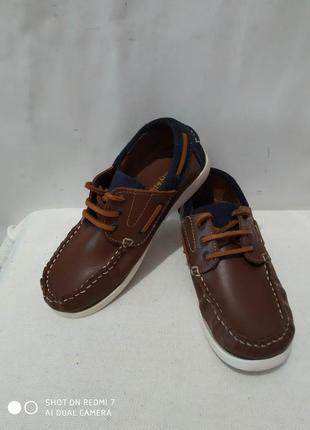 Кожаные туфли мокасины топсайдеры lily&dan