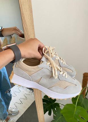 Женские стильные осенние кроссовки new balance 327 undyed