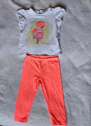 Костюм, футболка и лосины, штаны, штанишки fagottino