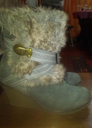 Зимові жіночі ботинки geox 36 р.