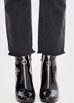 Лаковые ботинки замок