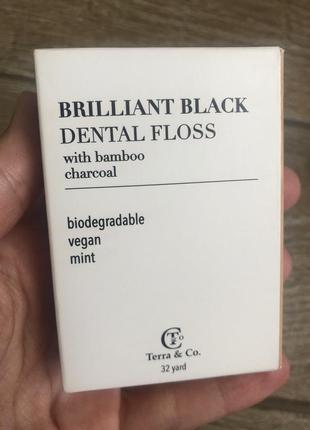 Зубная нить 30м бамбук и уголь для зубов для чистки