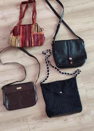 4 сумки за 199грн сумка кросбоді вінтажна сумка плетена сумка