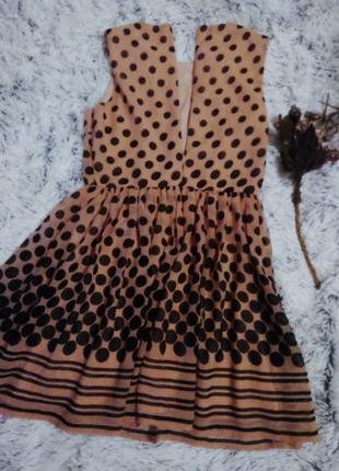 Платье в горошек легкое3 фото