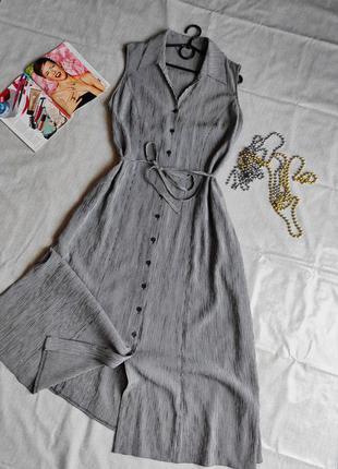 Платье халат в мелкую клеточку uk 16
