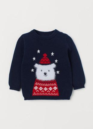 Новогодний свитер зимний h&m