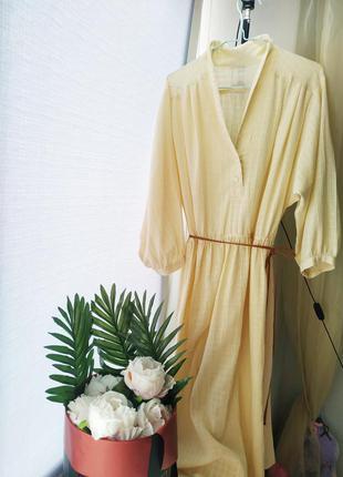 Платье рубашка  оверсайз с объемными рукавами