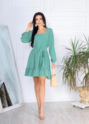 Красивое женское платье с поясом в комплекте