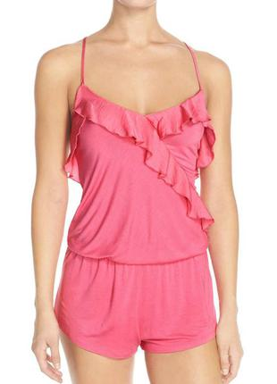 Betsey johnson оригинал румпер пижама ночнушка розовая бренд оригинал из сша р s m l