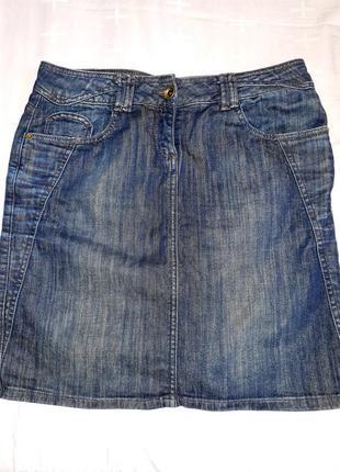 Джинсовая юбка миди tom taylor