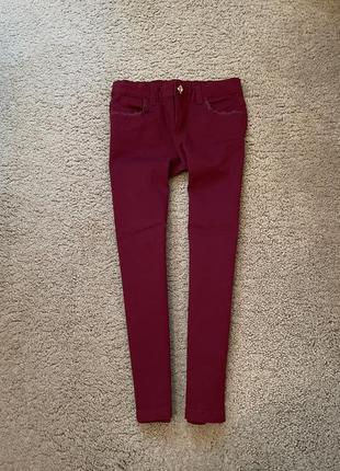 Катонновые марсаловые штанишки