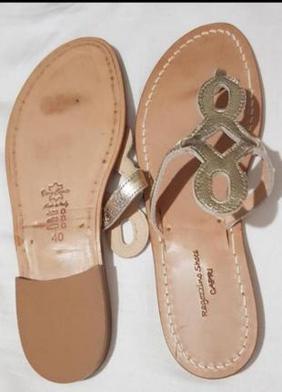Босоножки шлепанцы вьетнамки ragozzino shoes полностью натуральная кожа