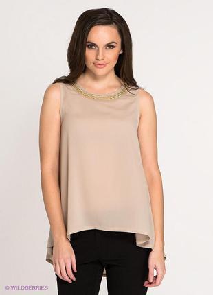 Бежевый топ, блуза, блузка kira plastinina