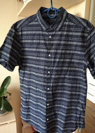 Хлопковая рубашка,шведка,р.m/46