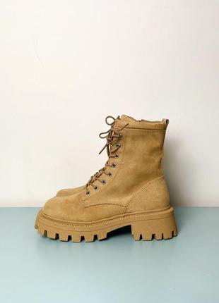 Новые рыжие ботинки на толстой подошве asos