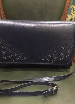 Шикарная сумка, клатч кожа clarks ирландия оригинал
