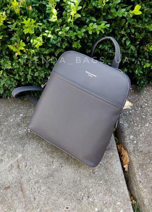 Рюкзак david jones 6221-2t серый / городской женский стильный аккуратный