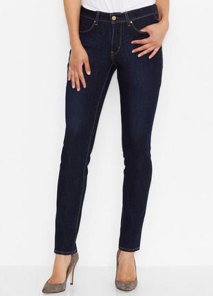 Levi's modern rise темно синие  джинсы