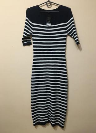 Длинное трикотажное платье next