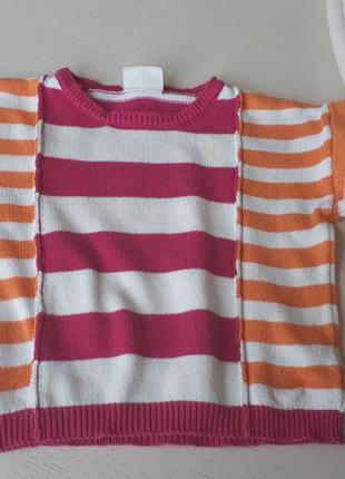 Комплект неон оранжевый, 5-6 лет, crazy8, кофта колготы свитер узор полоска 110-116 см2