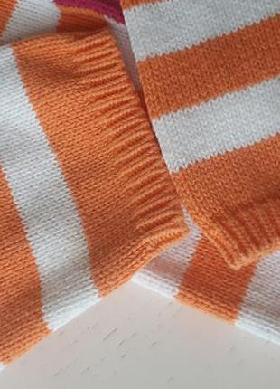 Комплект неон оранжевый, 5-6 лет, crazy8, кофта колготы свитер узор полоска 110-116 см4