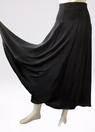 Трехслойная шелковая юбка с завышенной талией бренда  massimo dutti, испания