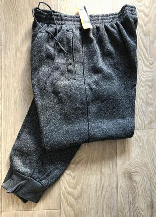Теплые спортивные штаны на манжете, теплые мужские штаны