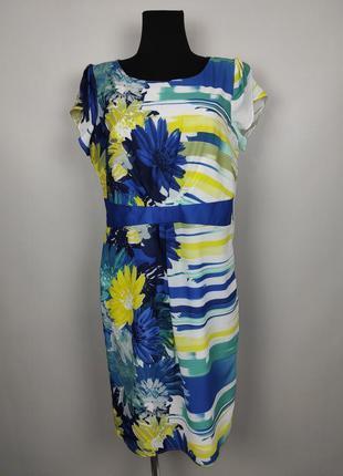 Платье красивое легкое в принт marks&spencer uk 14/42/l