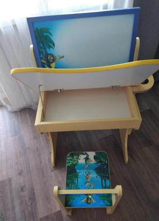 Парта-растишка+ стульчик+ магнитная доска