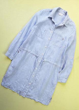 Стильное льняное платье- рубашка  bogner