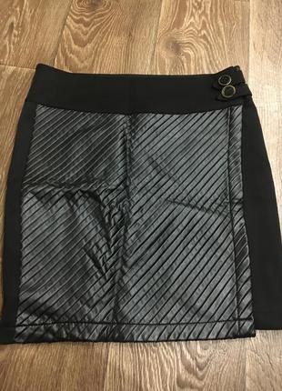 Крутая комбинированная юбка