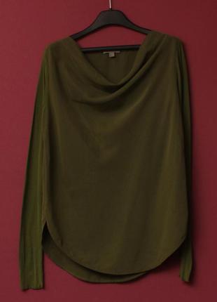 Cos рр 4 s-m блуза из модал хлопка и шелка