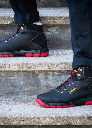 Ботинки зимние мужские на красной подошве а-20-кч