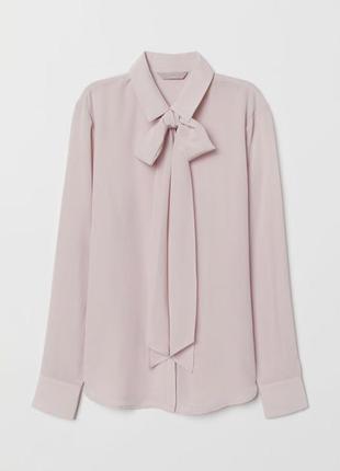 Блуза розовая с бантом