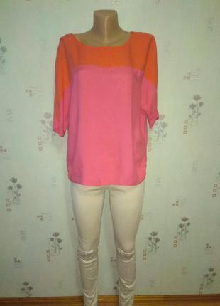 Яркая розовая блуза блузка george