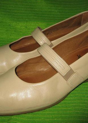 Туфли gabor,р.39 стелька 26см кожа
