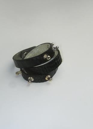 Кожаный браслет транформер  в 2 оборота  ручной работы