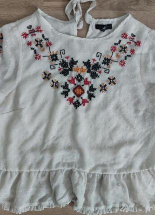 Вышитая блуза new look 14-18 размер
