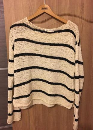 Стильный полосатый свитер h&m