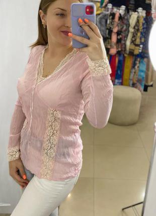 Блузочка розовая